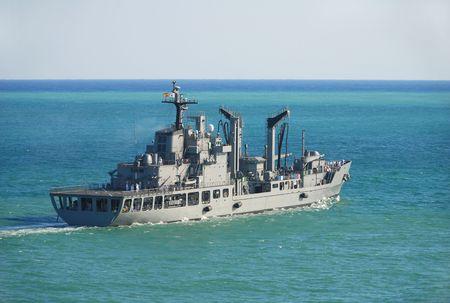 a battleship: Battleship on a mission