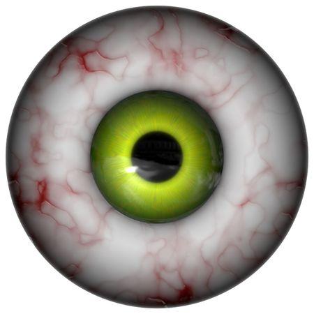 Isolated green eye