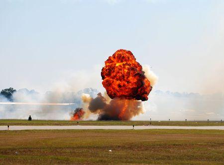 large ground explosion