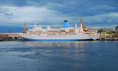 shit: Cruise ship in Messina Sicily