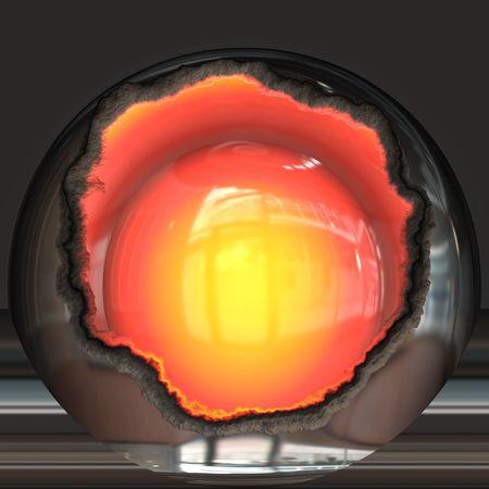 Open nuclear core Stock fotó