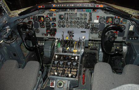 Jet airplane cockpit photo