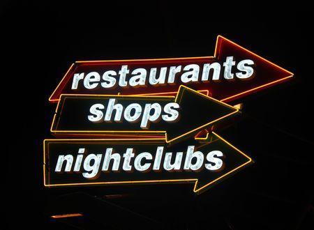 venue: Neon signs to nightlife venue
