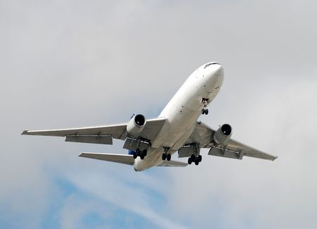 heavy jet airplane approaching photo