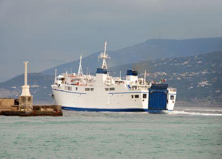 Departing passenger ferry in Capri Stock Photo - 2182170