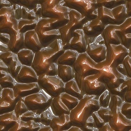 Melting chocolate Stock Photo
