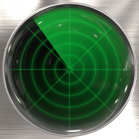 Vintage radar display Archivio Fotografico