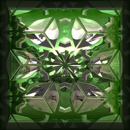 Closeup of green gem Imagens