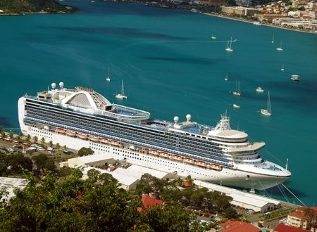 unforgettable: Exotic cruise vacation Stock Photo
