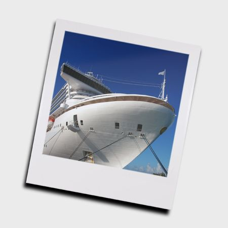 Isolated slide of cruise ship (rendered frame) photo