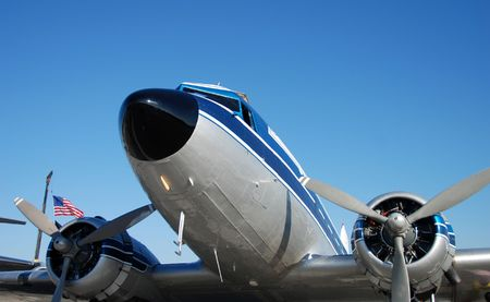wartime: Wartime propeller driven airplane Stock Photo