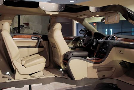 asiento coche: Minivan secci�n transversal  Foto de archivo