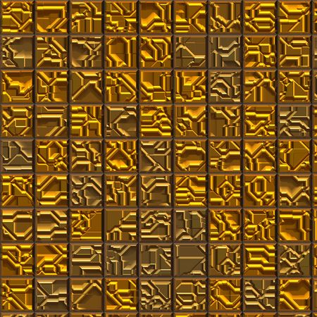 rendition: Gold tile background