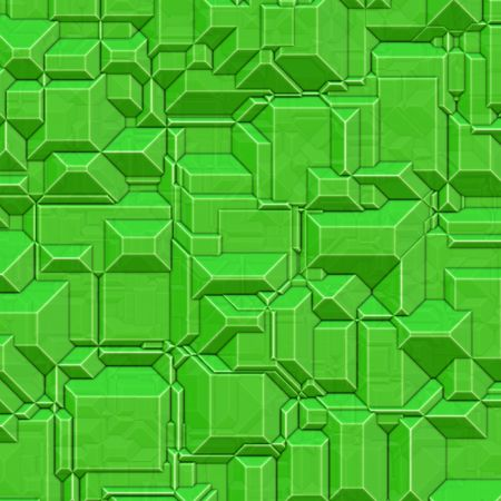 Blocky green high tech background Banco de Imagens