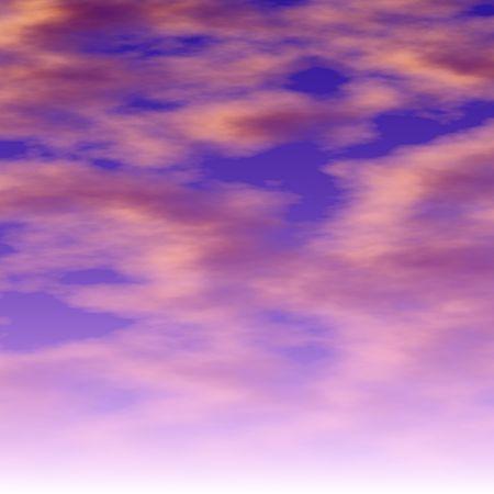rendered: Computer rendered sky