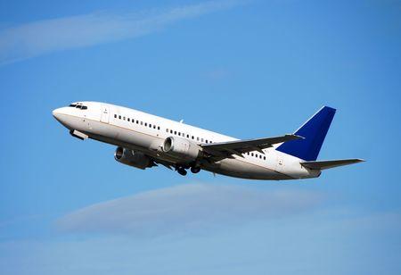 Jet airplane leaving