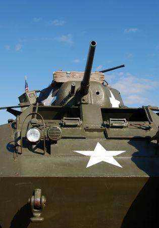 wartime: Vintage wartime tank Stock Photo