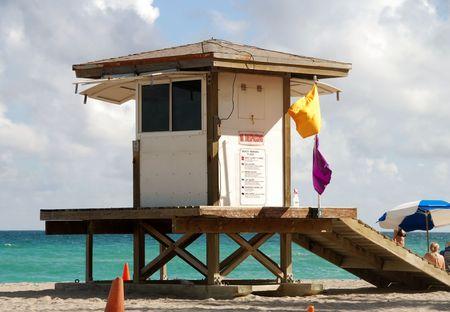 outpost: Lifeguard tower on Miami Beach