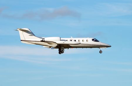 Business jet airplane Stock Photo