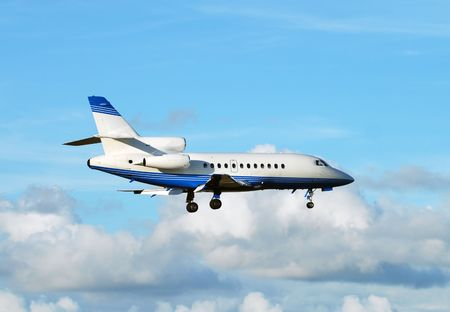 Private jet in flight Stock Photo - 2377215
