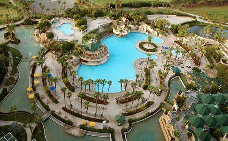 Luftbild von Gold Resort Standard-Bild - 2377217
