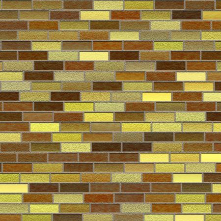 Beige brick wall