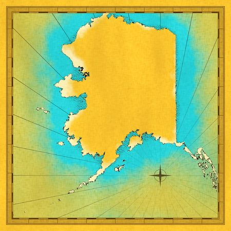 Antique map of Alaska