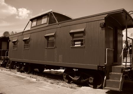 caboose: Old fashioned caboose car Stock Photo