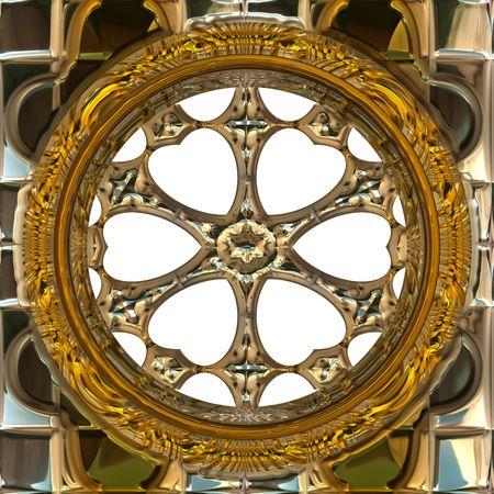 Isolated golden wheel