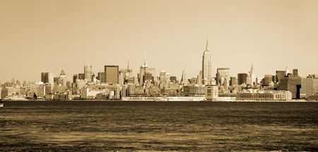 New York City skyline vintage
