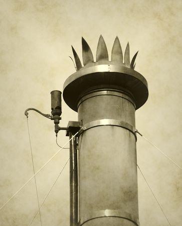 smoke stack: Vintage smoke stack