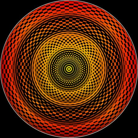 Hypnotic wheel Stock Photo