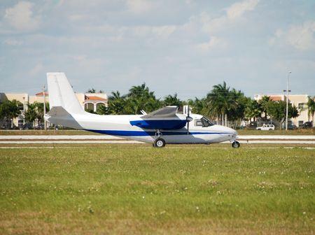 turboprop: Turboprop airplane Stock Photo