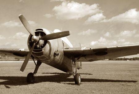 Jahrgang Jagdflugzeug  Standard-Bild - 2649280