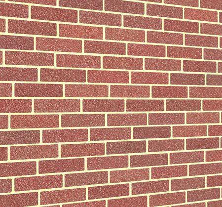 fortification: Red brick wall Stock Photo