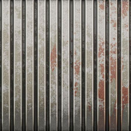 iron curtains: Old metal door Stock Photo