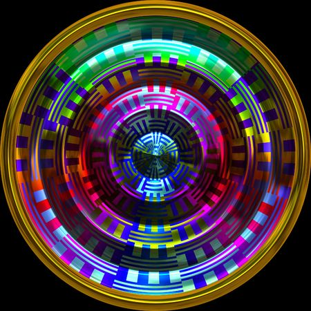 Hypnotic wheel Stock Photo