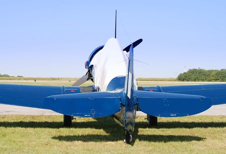 wartime: Wartime fighter rear view