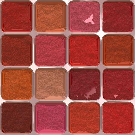 Colorful makeup palette Banco de Imagens