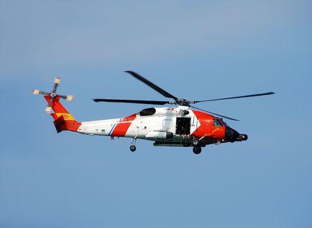 coast guard: Coast Guard helicopter Stock Photo