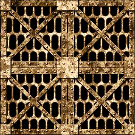heavy metal: Old rusty door