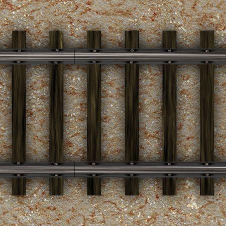 トップ ビュー昔ながらの鉄道線路