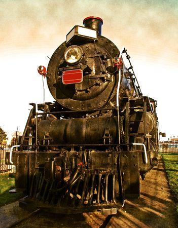 Vintage train engine photo