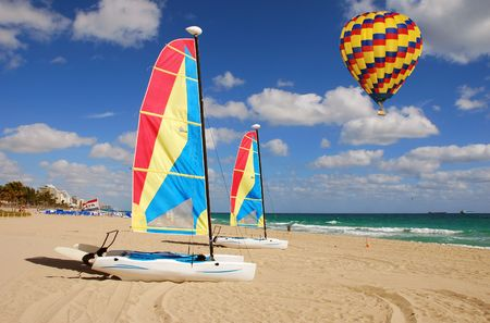 Leisure sports activities on a tropical beach in South Floirida                              photo
