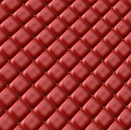 Luxurious red colored upholstery for background and texture Stock Photo