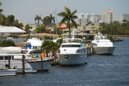 ft lauderdale: Boat marina and scenery from Ft lauderdale, Florida                        Stock Photo