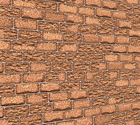 dimentional: Thick brown bricks with dimentional perspective Stock Photo