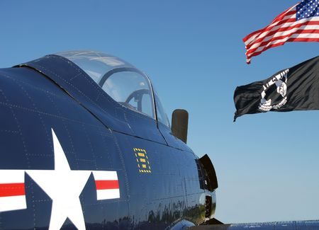 Wartime airplane commemorating veterans and prisoners of war Stock Photo