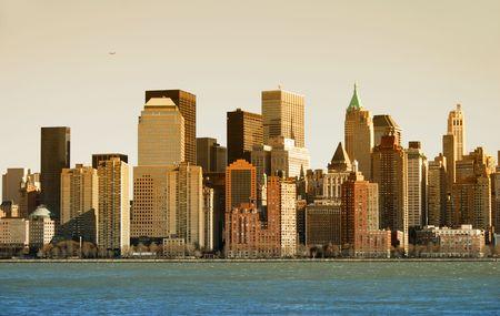 afternoon: Tarde de sol que brilla sobre la ciudad de Nueva York