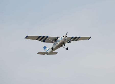 Private hobby airplane in flight